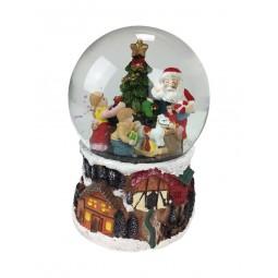 Schneekugel Geschenke verteilen