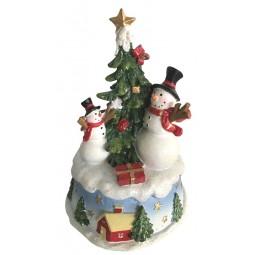Schneemänner am Weihnachtsbaum