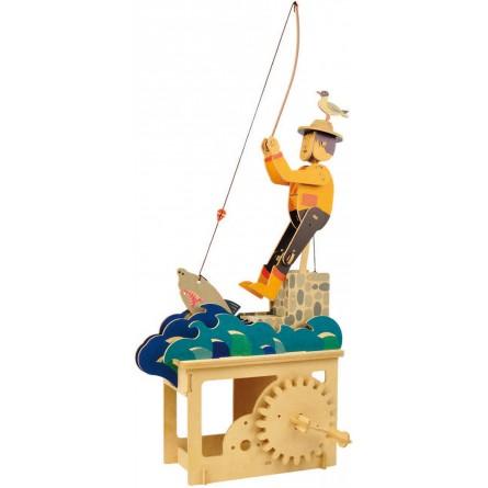 """Puzzle tridimensionale """"sognatore volante"""" in legno"""