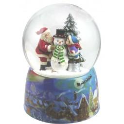 Kugel Santa, Kind & Schneemann