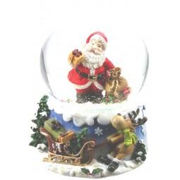 Kugel Santa mit Sack & Geschenk