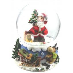 Kugel Santa mit Baum & Geschenk