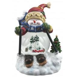 Schneemann mit Zugszene