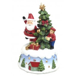 Santa mit Baum