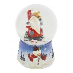 Kugel Santa mit Teddy