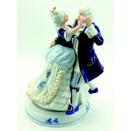Porzellanpaar Blau-Weiß