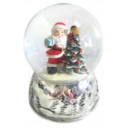 Kugel Santa am Baum 80 mm