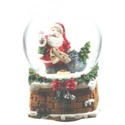 Kugel Santa mit Schal