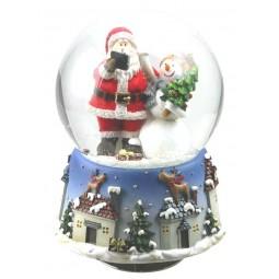 Kugel Santa mit Schneemann