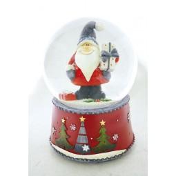 Kugel Santa mit grauer Mütze
