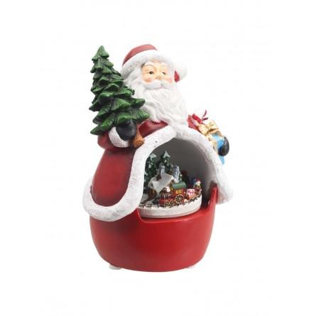 Santa mit Zugszene