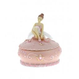 Spieluhr rosa Schmuckdose mit Ballerina