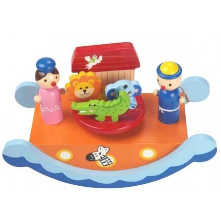 Spieluhr Arche Noah Wippe aus Holz