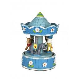 Spieluhr blaues Karussell