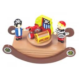 Spieluhr Piraten Wippe aus Holz