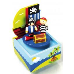 Spieluhr Piratenschiff aus Holz