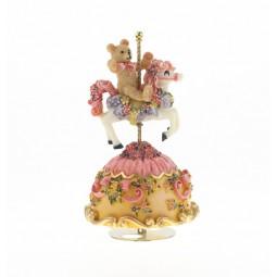 Spieluhr Teddybär rosa