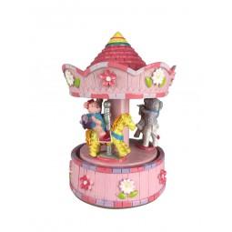 Spieluhr rosa Karussell Bärchen und Tiere