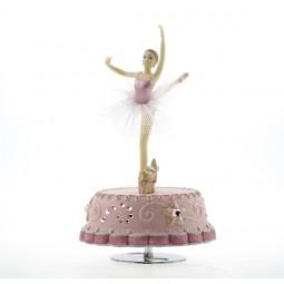 Spieluhr rosa mit tanzender Ballerina