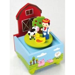 Spieluhr Bauernhof aus Holz