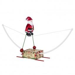 Santa auf dem Einrad