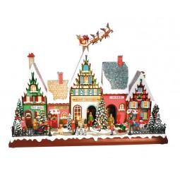 Häuserfront mit Santa