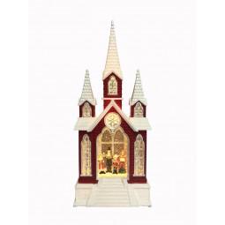 Kirche mit Glitzerkugel