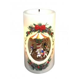 Kerzenoptik mit Karussell