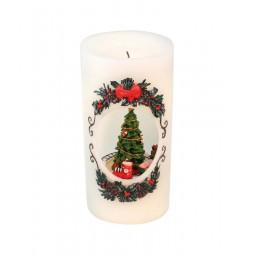 Kerzenoptik mit Weihnachtsbaum