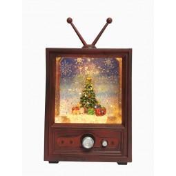 Fernseher mit Glitzerkugel
