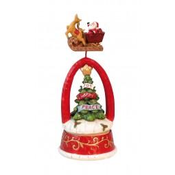 Tannenbaum mit fliegendem Santa