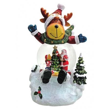 Rentier mit Schneekugel