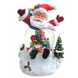Santa mit Schneekugel