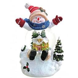 Schneemann mit Schneekugel