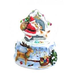 Schneekugel Santa mit Hund