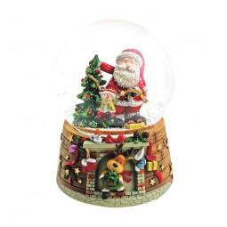 Schneekugel Santa am Weihnachtsbaum