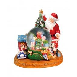 Schneekugel Santa mit Geschenken
