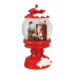 Schneekugel Santa und Wichtel Backen