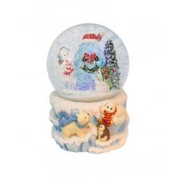Schneekugel Eisbären Szene