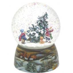 Schneekugel Kinder/Tannenbaum