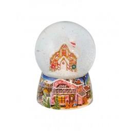 Schneekugel Lebkuchenhaus