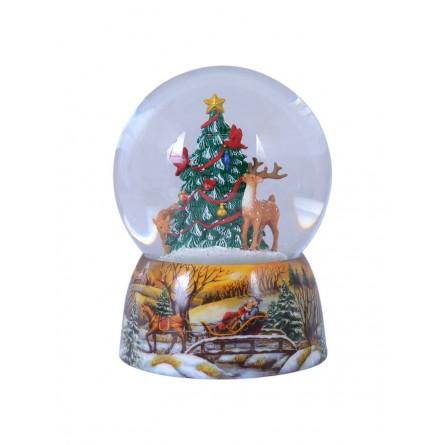 Schneekugel Tiere/Weihnachtsbaum