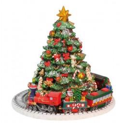 Weihnachtsbaum mit Zugszene