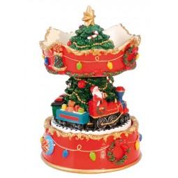 Weihnachtskarussell mit Santa im Zug