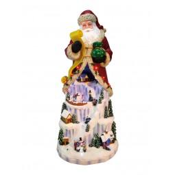 Santa mit Eislandschaft