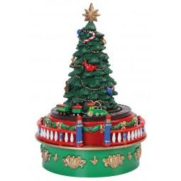 Spieluhr Weihnachtsbaum aus Kunststoff