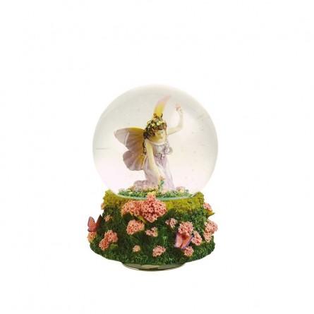 Glitzerkugel Blumenpflückende Elfe