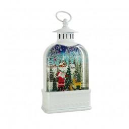 Weiße Laterne Santa im Wald