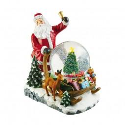 Santa mit Schlitten