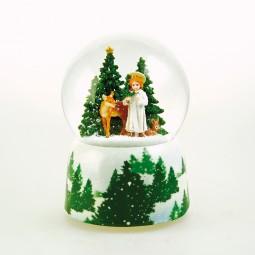 Spieluhr Schneekugel Christkind